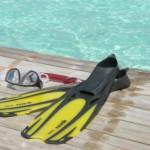 Ta gärna med simfötter, snorkel och cyklop. Men det finns också många gånger att hyra på plats.