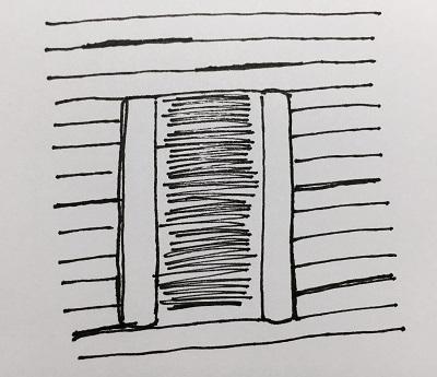 Dörren skall placeras på läsidan.
